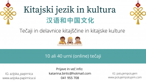 Kitajski jezik in kultura- tečaj